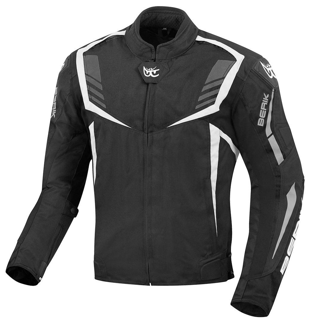Berik Toronto Veste Textile moto Noir Blanc taille : 56