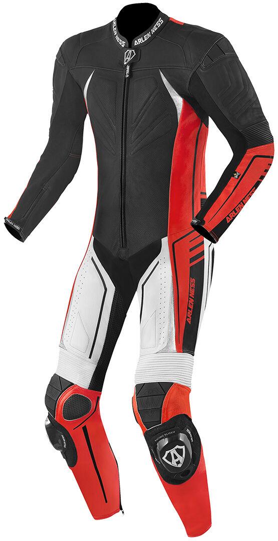 Arlen Ness TX-1 Une seule pièce longue de combinaison de moto cuir Noir Blanc Rouge taille : 50