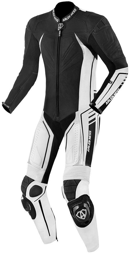 Arlen Ness TX-1 Une seule pièce longue de combinaison de moto cuir Noir Blanc taille : 50