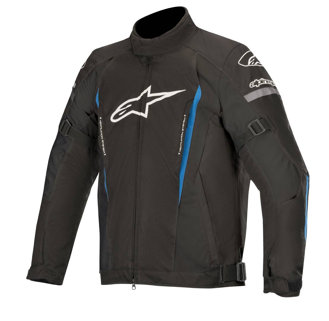 Alpinestars Gunner v2 Veste de Textile imperméable à l'eau Noir Bleu taille : M