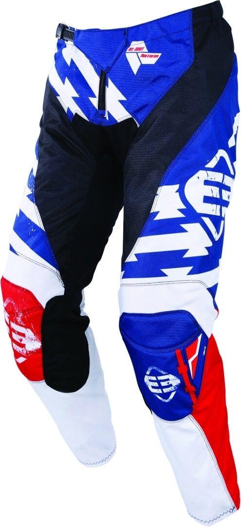 Freegun Devo Outlaw Pantalon de Motocross enfants Blanc Rouge Bleu taille : M
