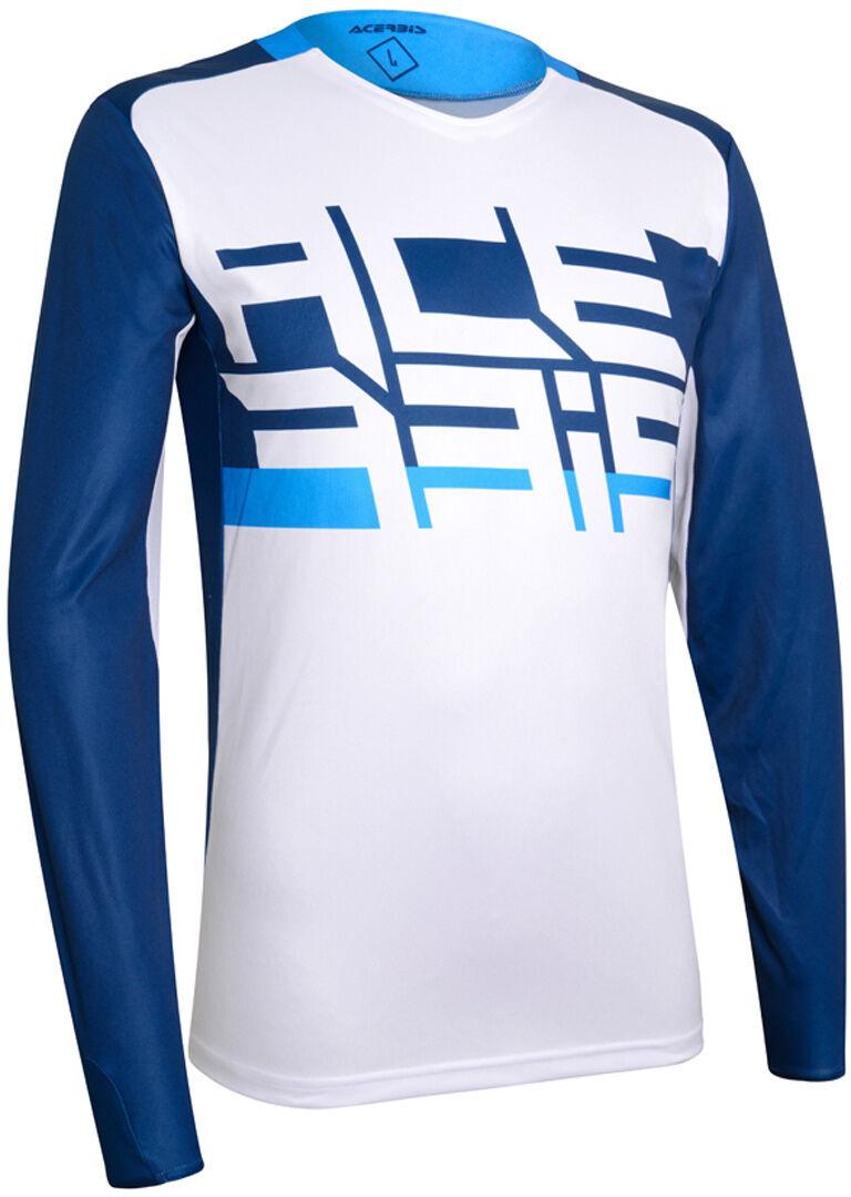 Acerbis LTD Sasansi Maillot Motocross Blanc Bleu taille : L