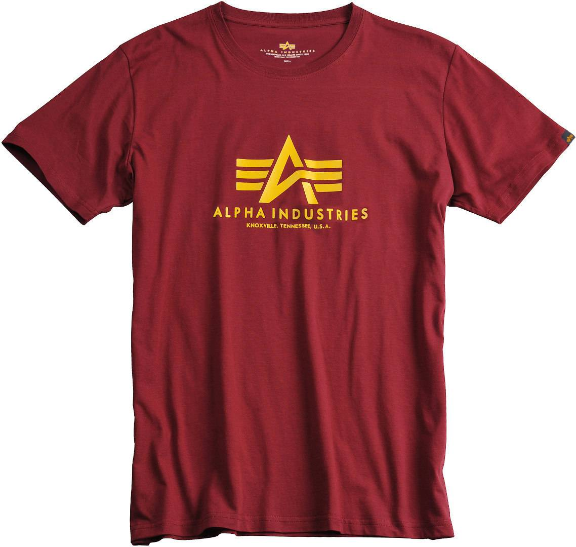 Alpha Industries Basic T-Shirt Rouge taille : 2XL