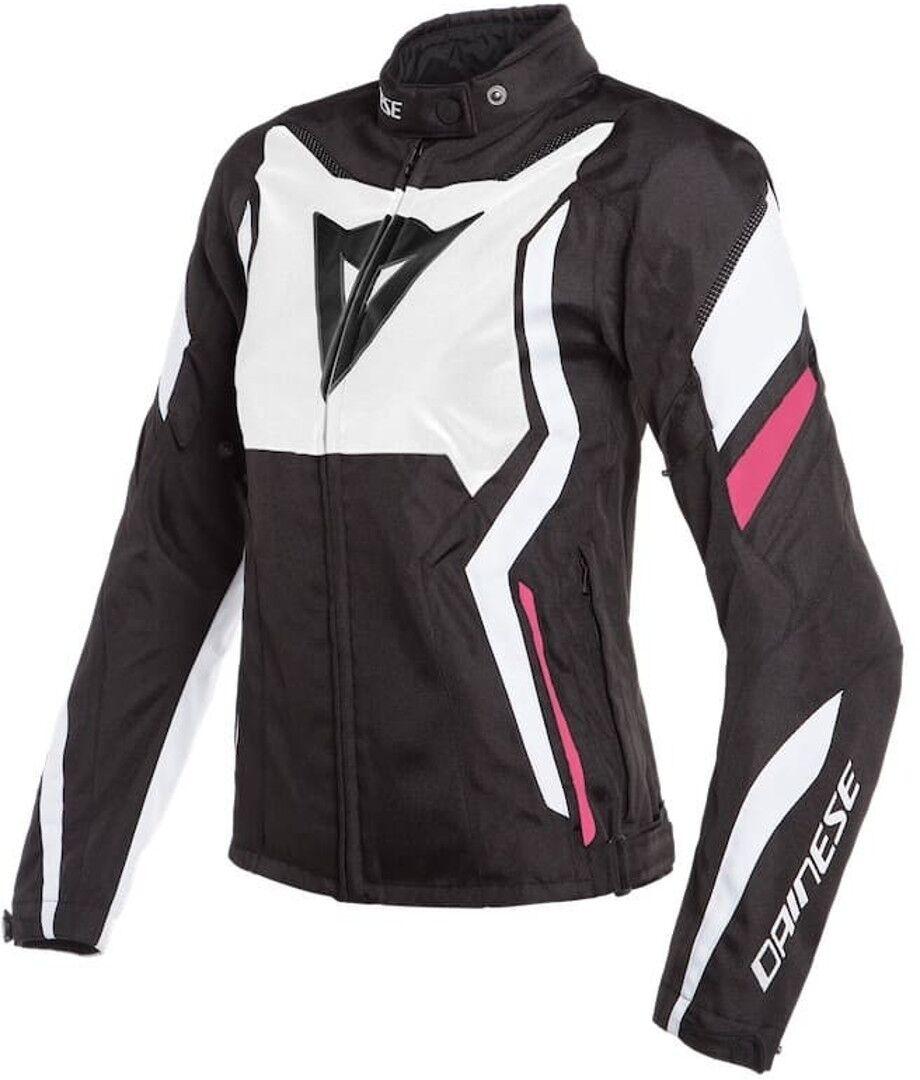 Dainese Edge Tex Veste de dames moto Textile Noir Blanc Rose taille : 46