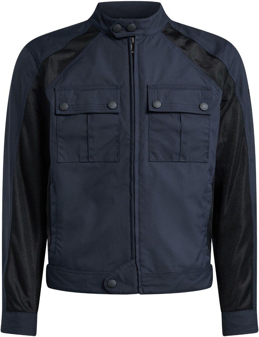 Belstaff Temple Veste Textile moto Noir Bleu taille : 2XL