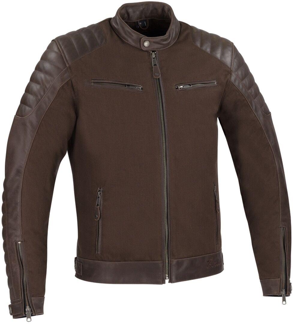 Bering Creedo Veste de moto en cuir Brun taille : L