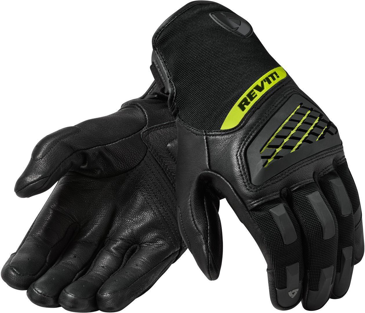 Revit Neutron 3 Gants de motocross Noir Jaune taille : L