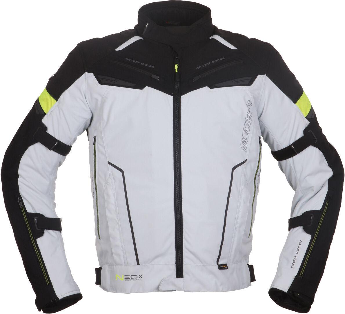 Modeka Neox Veste textile de moto Noir Gris taille : L