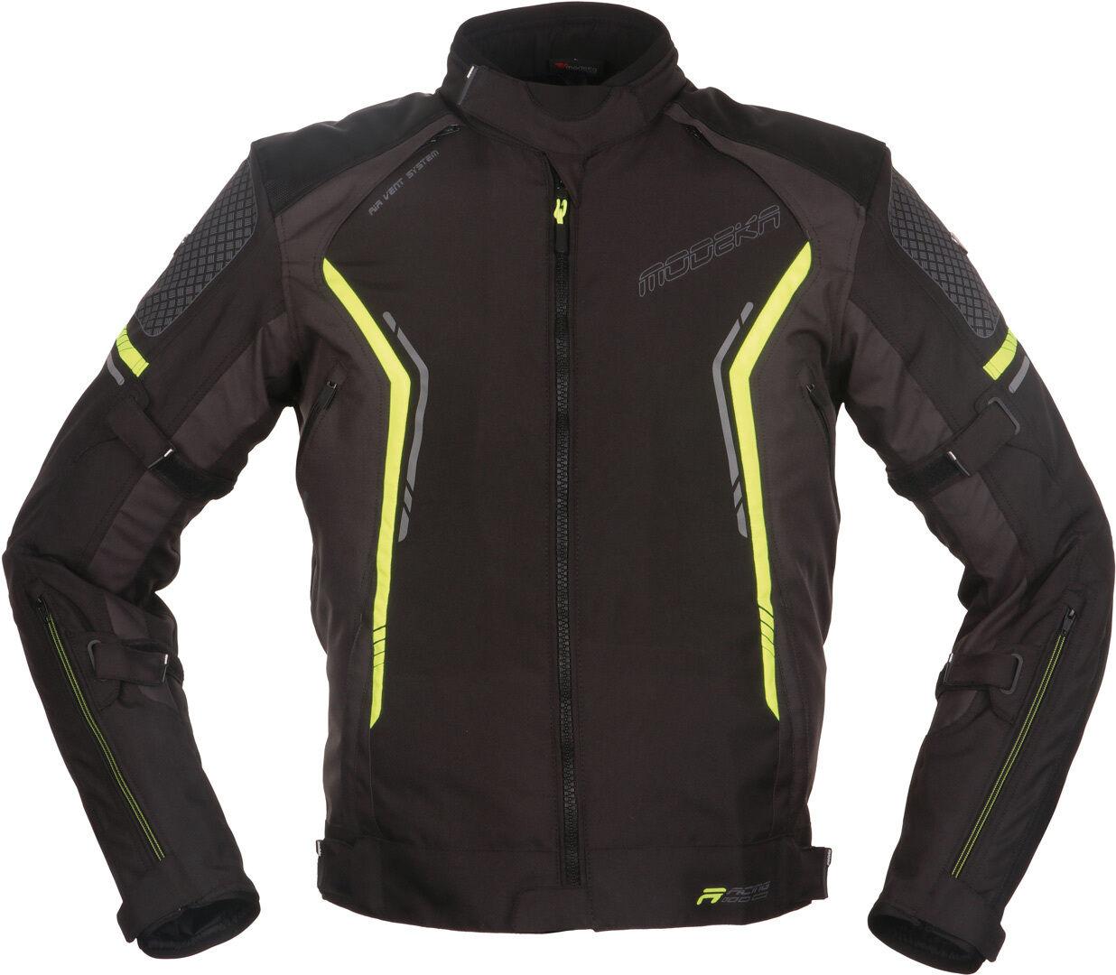 Modeka Khao Veste textile de moto Noir Jaune taille : XL