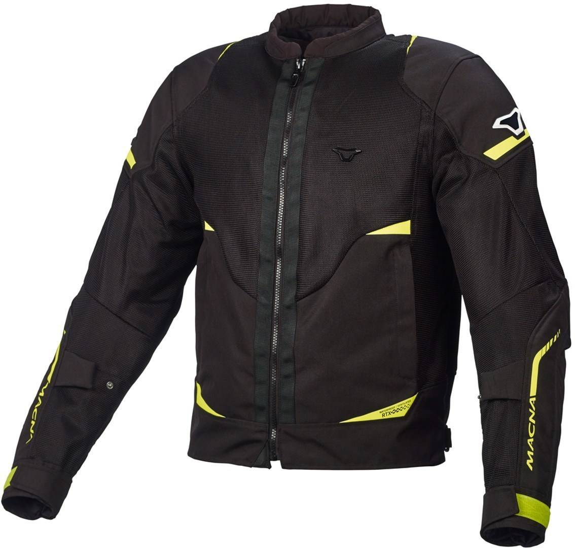 Macna Hurracage Veste Textile moto Noir Jaune taille : XL