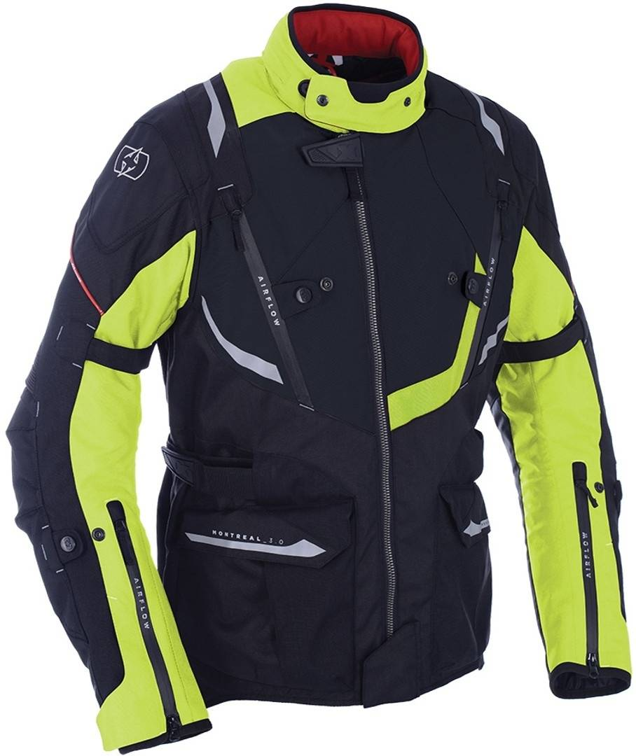 Oxford Montreal 3.0 Veste textile de moto Noir Jaune taille : 3XL