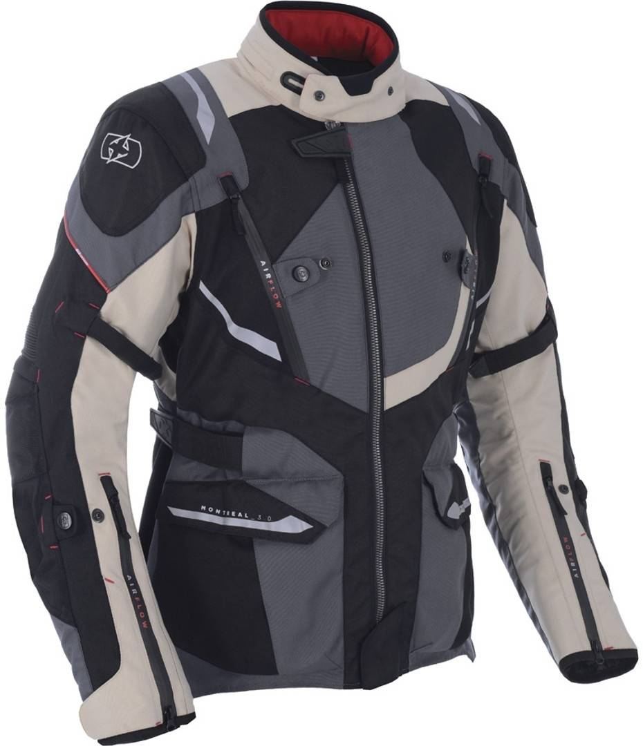 Oxford Montreal 3.0 Veste textile de moto Beige taille : S