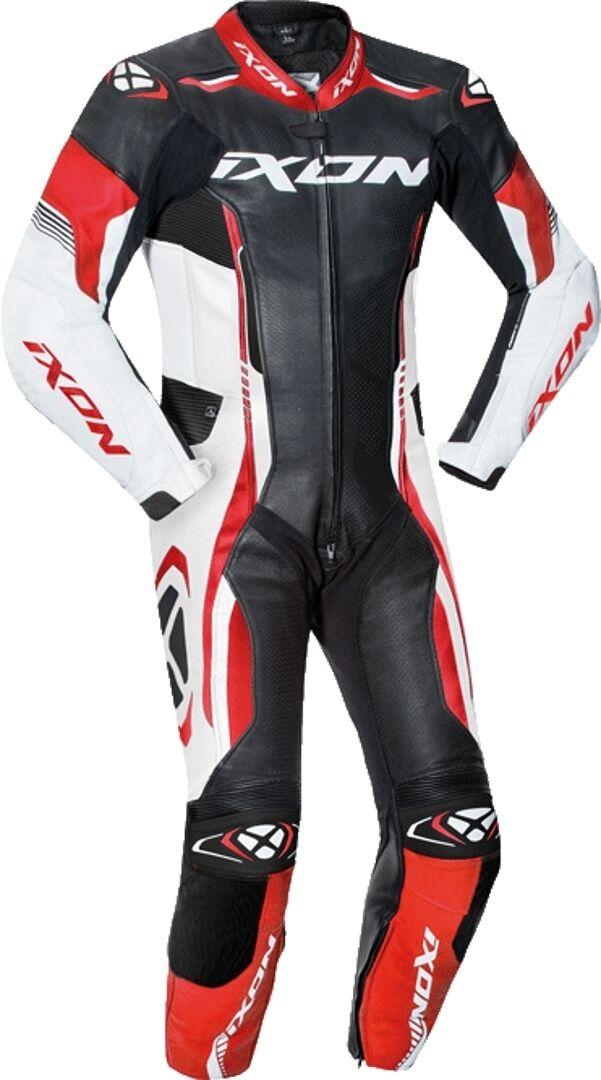 Ixon Vortex Junior Costume en cuir de moto d'un morceau d'enfants Noir Blanc Rouge taille : M