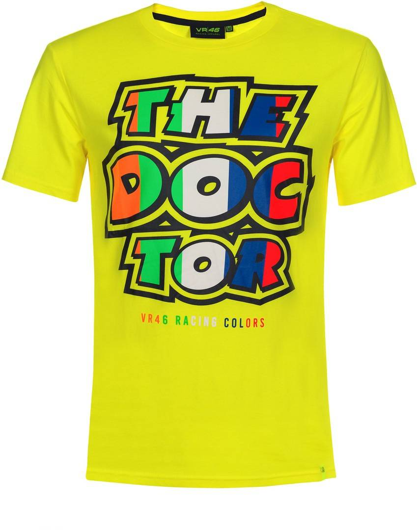 VR46 The Doctor Stripes T-Shirt Jaune taille : 2XL