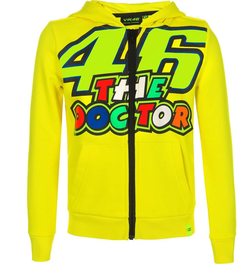 VR46 The Doctor Zip Hoodie Jaune taille : 2XL