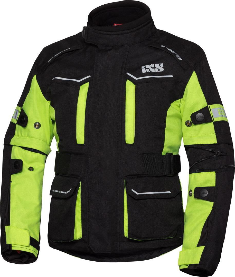 IXS Tour ST 1.0 Veste de Textile enfants Noir Jaune taille : 158 164