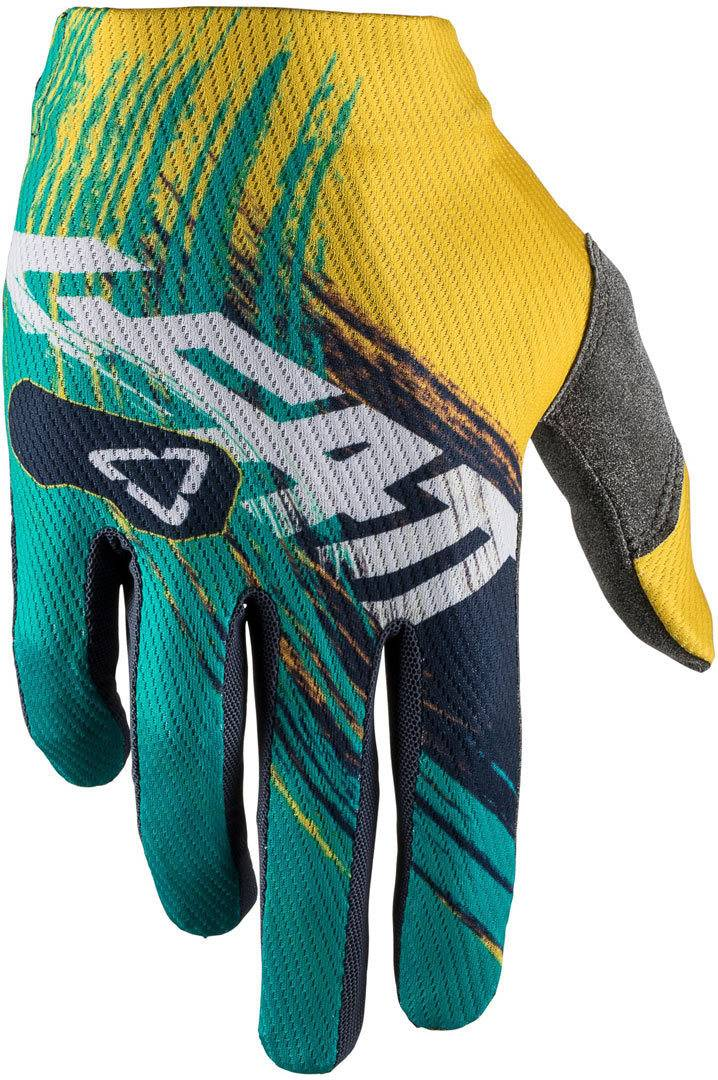 Leatt GPX 1.5 GripR Gants de motocross Bleu Jaune taille : 2XL