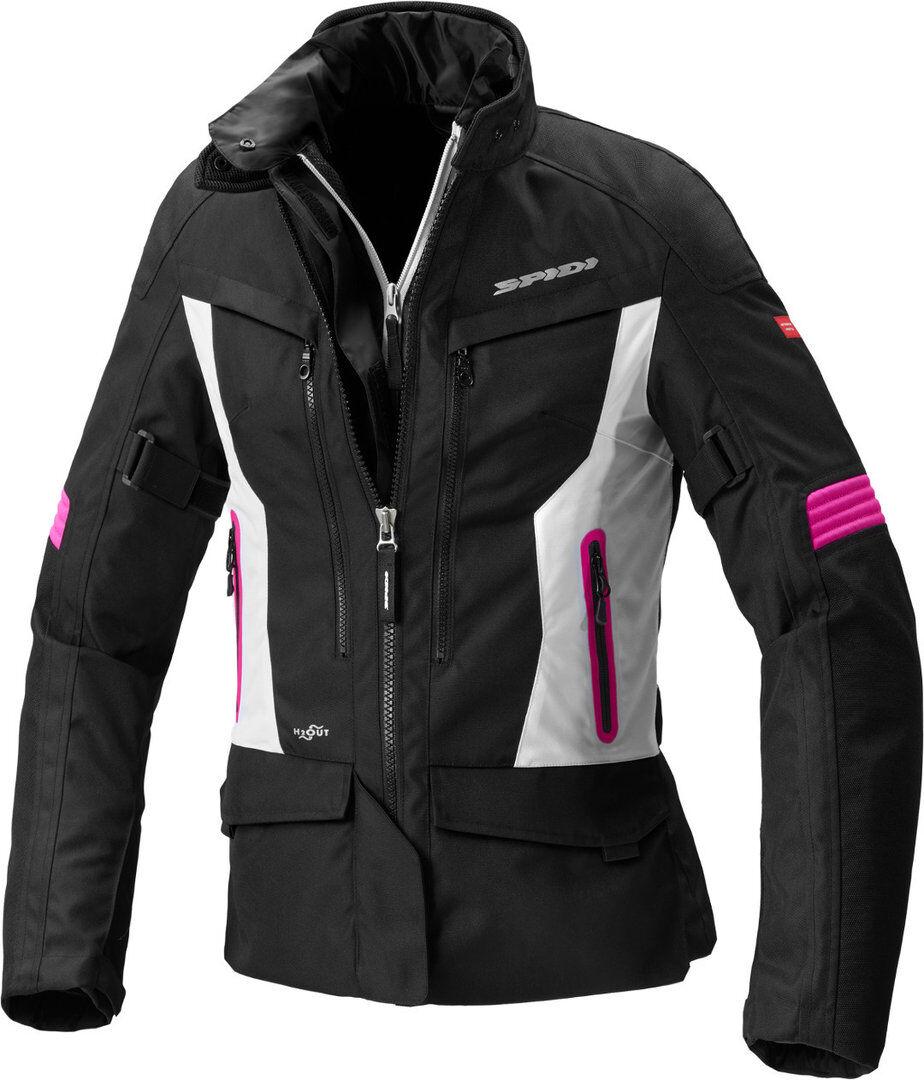 Spidi Voyager 4 H2Out Women Veste Textile moto Noir Rose taille : S