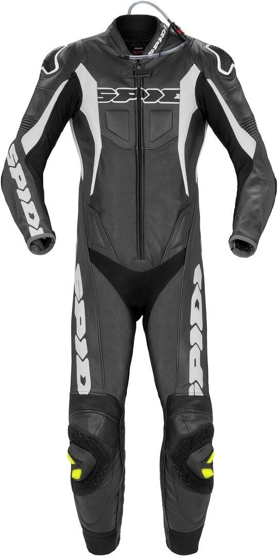 Spidi Sport Warrior Pr Perforé One Piece Motorcycle Cuir Costume Noir Blanc taille : 50
