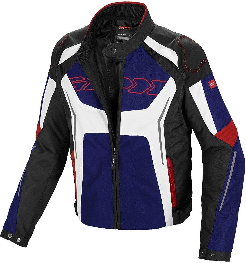 Spidi Tronik Tex Veste Textile moto Noir Blanc Rouge Bleu taille : 4XL