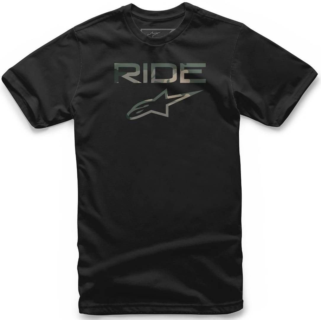 Alpinestars Ride 2.0 Camo T-Shirt Noir taille : S
