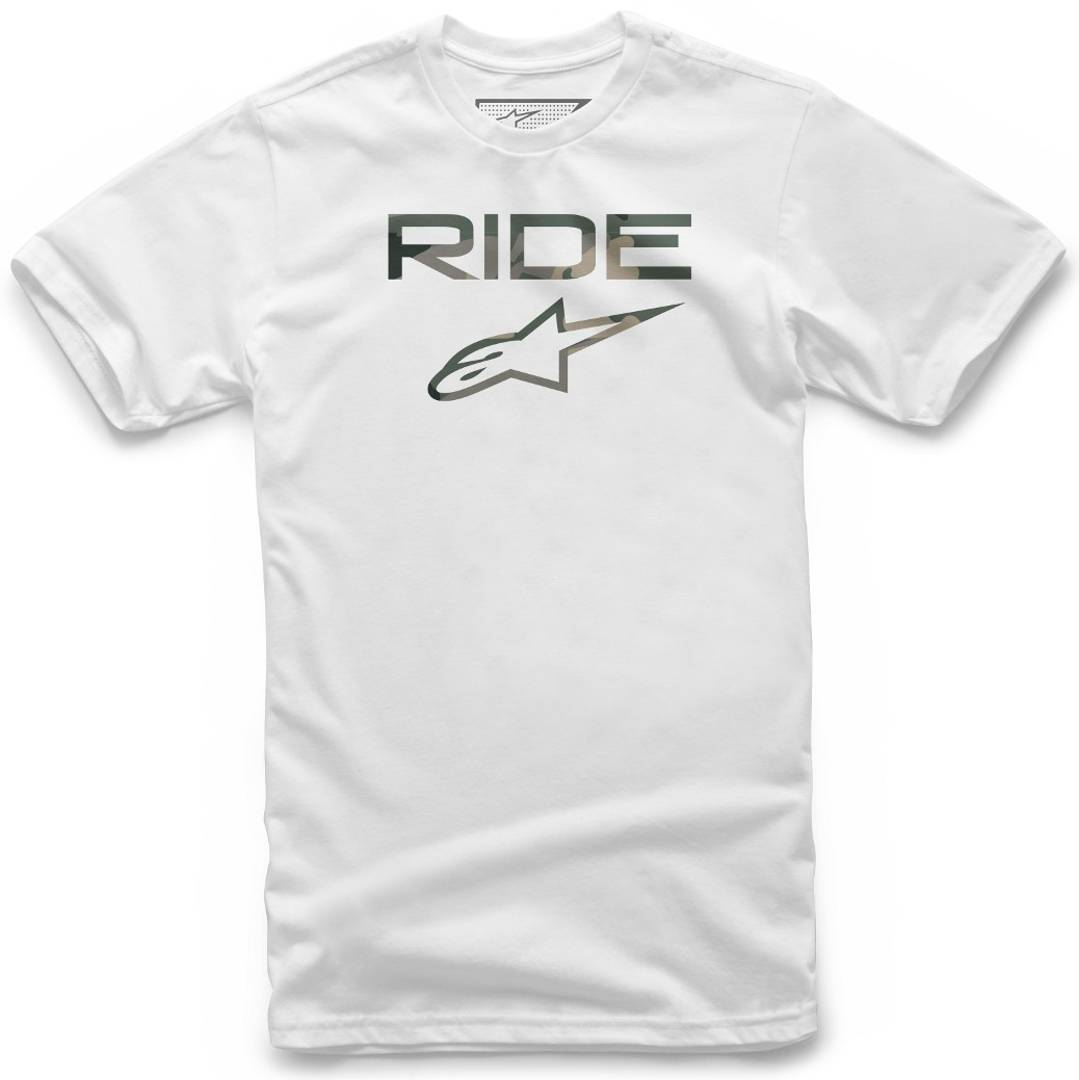 Alpinestars Ride 2.0 Camo T-Shirt Blanc taille : S