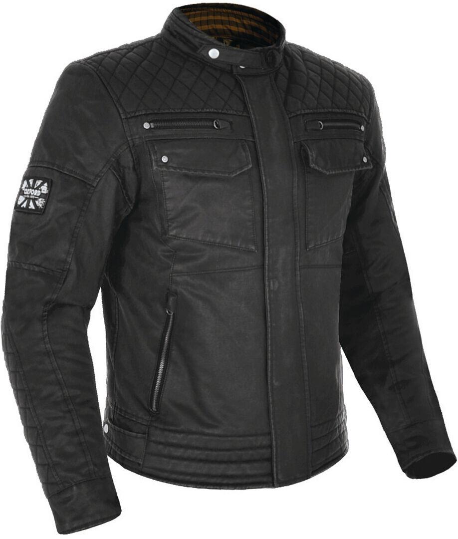 Oxford Hardy Wax Veste Textile moto Noir taille : M