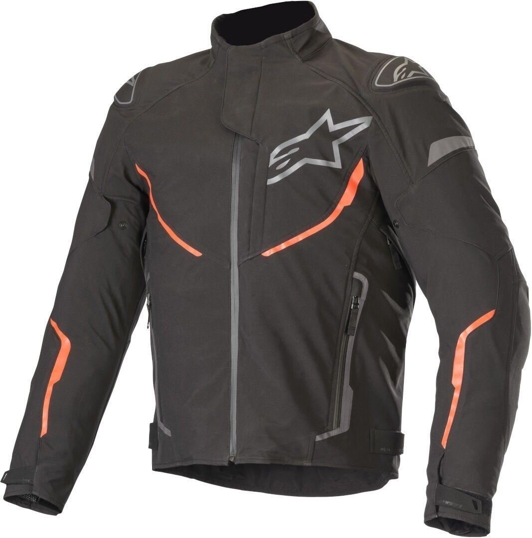 Alpinestars T-Fuse Sport Veste textile de moto imperméable à l'eau Noir Rouge taille : S