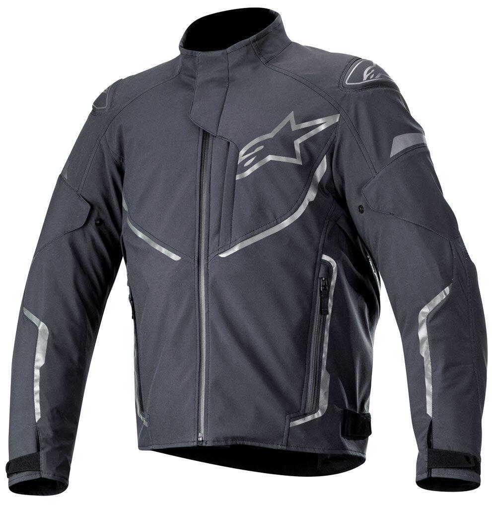 Alpinestars T-Fuse Sport Veste textile de moto imperméable à l'eau Noir Gris taille : L
