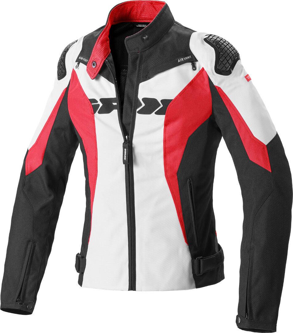 Spidi Sport Warrior Tex Women Motorcycle Veste textile Noir Blanc Rouge taille : L