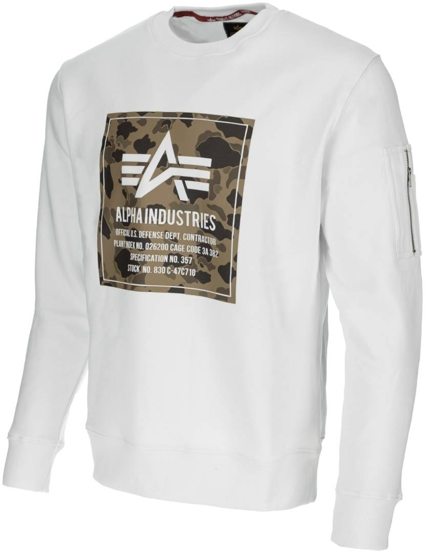 Alpha Industries Camo Block sweat Blanc taille : L