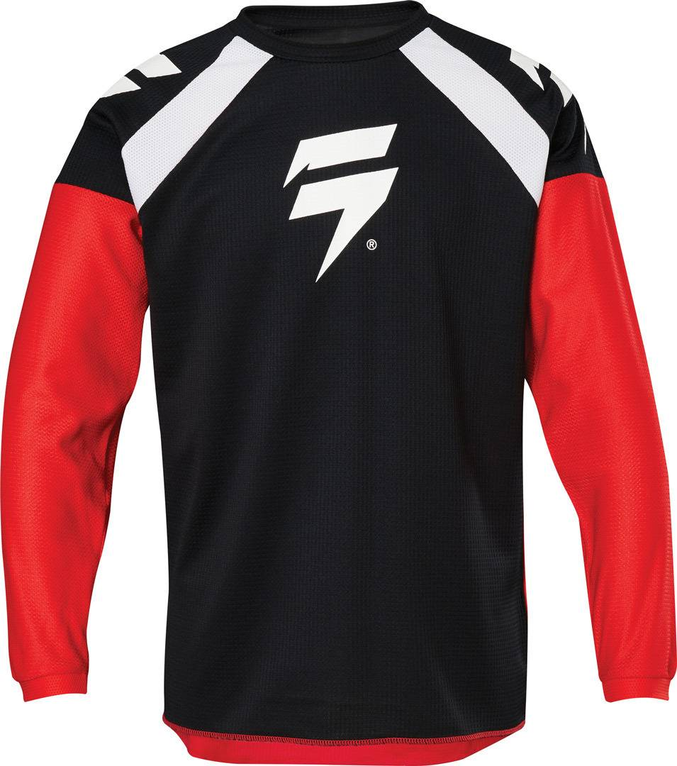 Shift Whit3 Label Race 1 Maillot Motocross enfants Noir Rouge taille : L