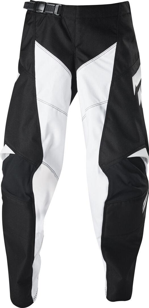 Shift Whit3 Label Race Pantalon Motocross pour enfants Noir Blanc taille : 26