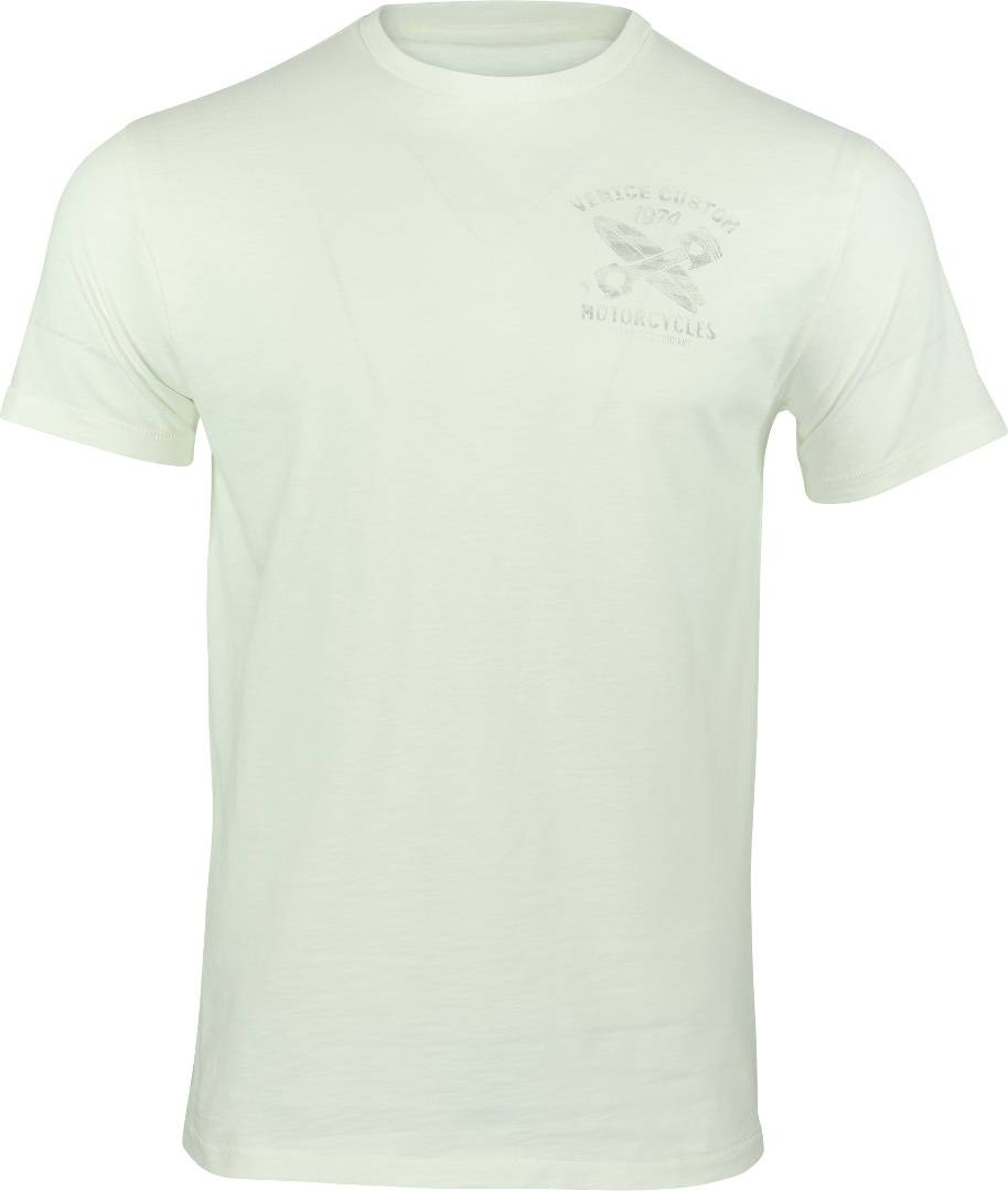 Rokker Venice Motorcycles T-Shirt Blanc Jaune taille : S
