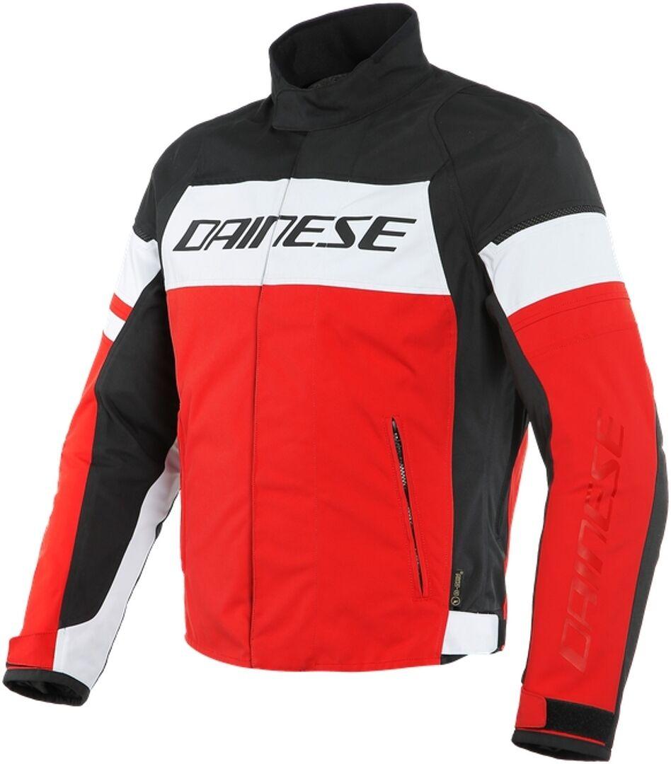 Dainese Saetta D-Dry Veste textile de moto Noir Blanc Rouge taille : 64
