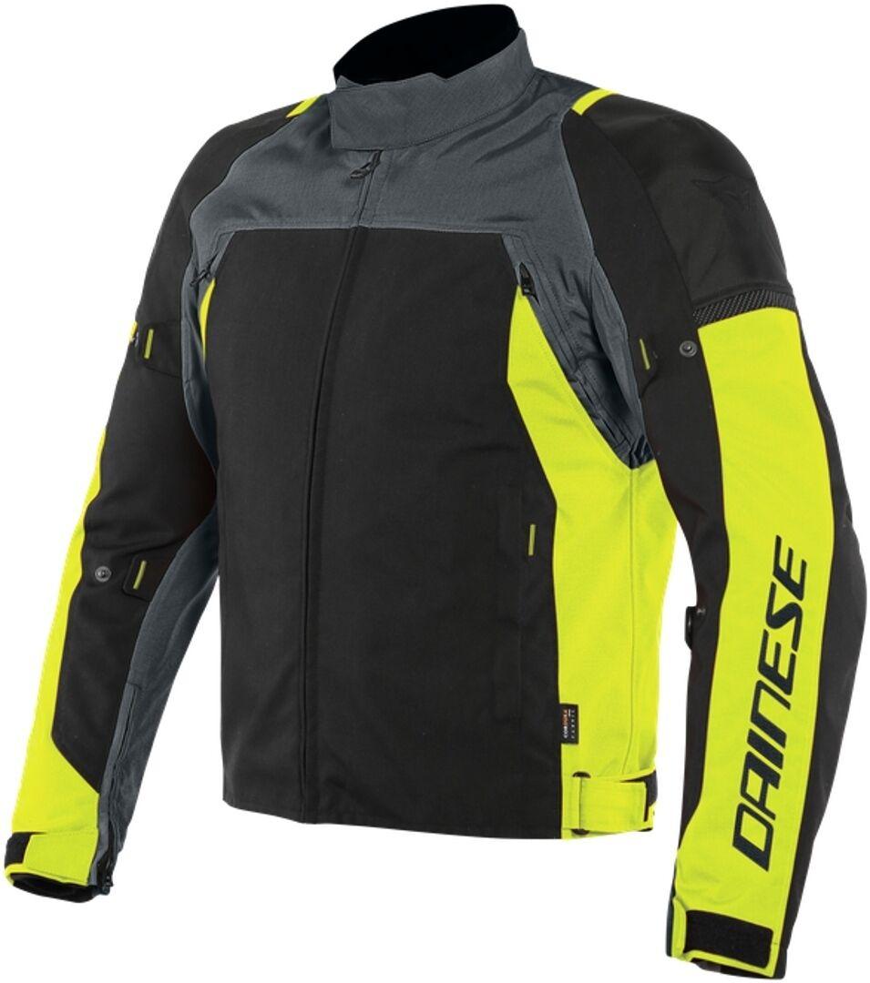 Dainese Speed Master D-Dry Veste textile de moto Noir Gris Jaune taille : 58