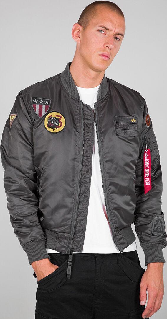 Alpha Industries MA-1 Air Force veste Noir Gris taille : 3XL