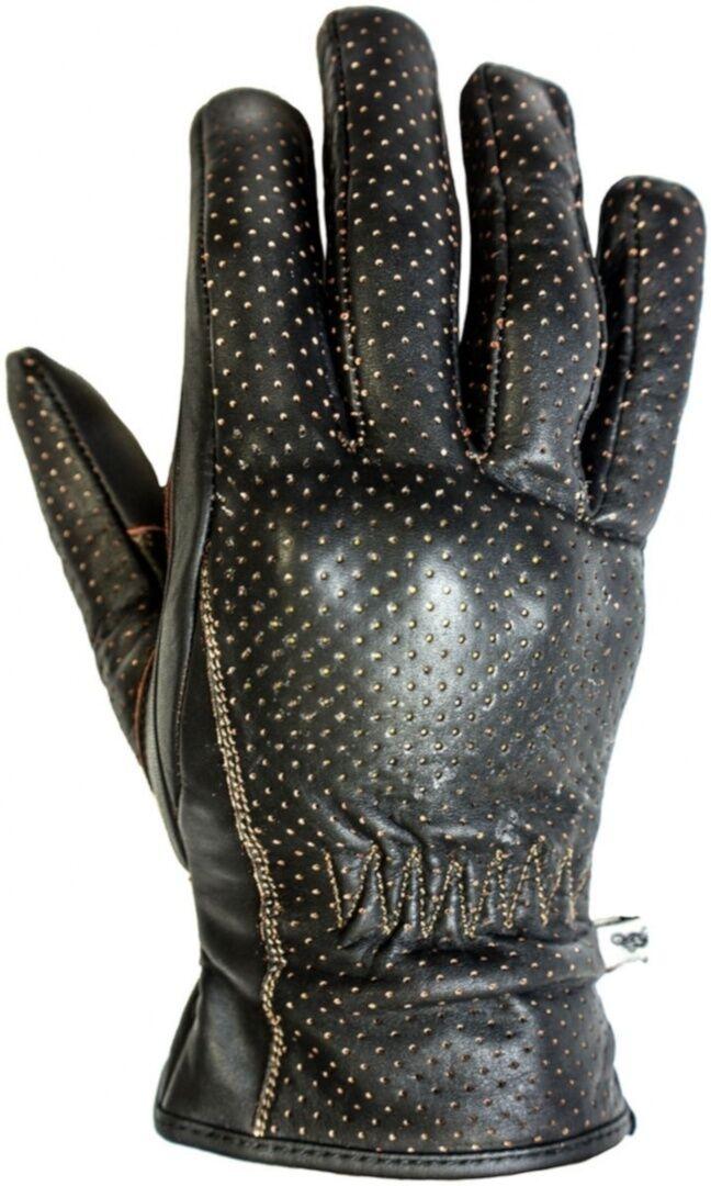 Helstons Basik gants de moto d'été perforés Brun taille : L