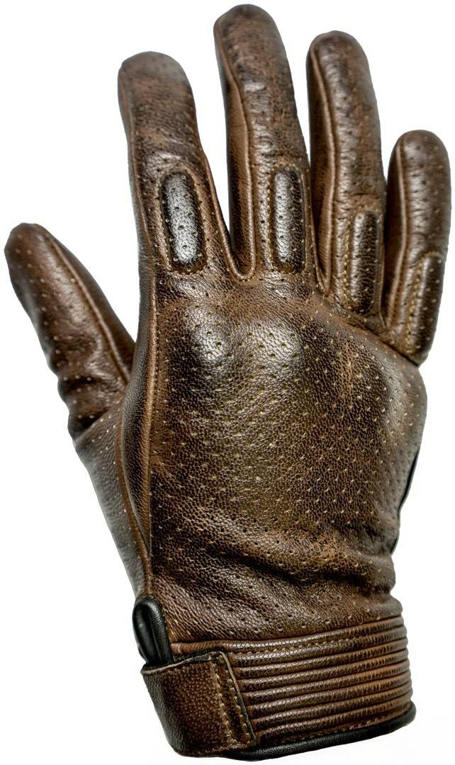 Helstons Side gants de moto d'été perforés Brun taille : M L