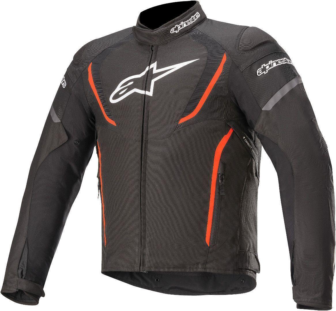 Alpinestars T-Jaws V3 Veste textile de moto imperméable à l'eau Noir Rouge taille : L