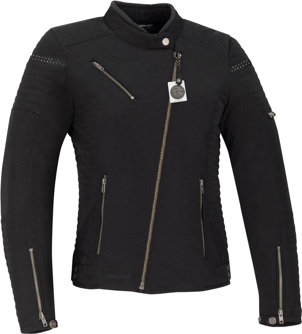 Segura Terry Swarovski Veste textile de moto pour femmes Noir taille : 46