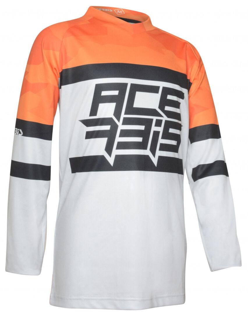 Acerbis Skyhigh Maillot Motocross enfants Gris Orange taille : 2XL
