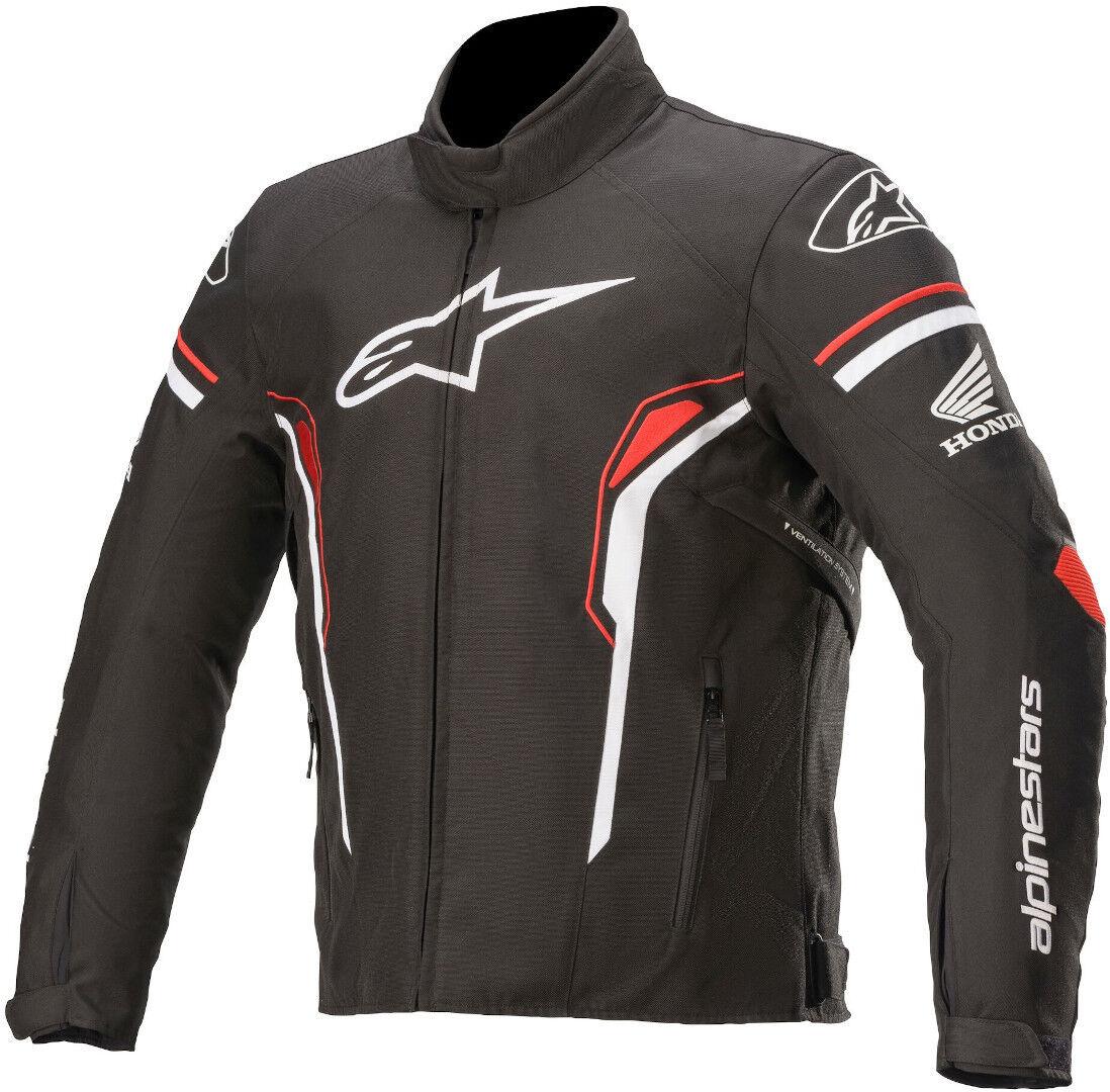 Alpinestars T-SP-1 Veste textile de moto imperméable à l'eau Noir Blanc Rouge taille : S