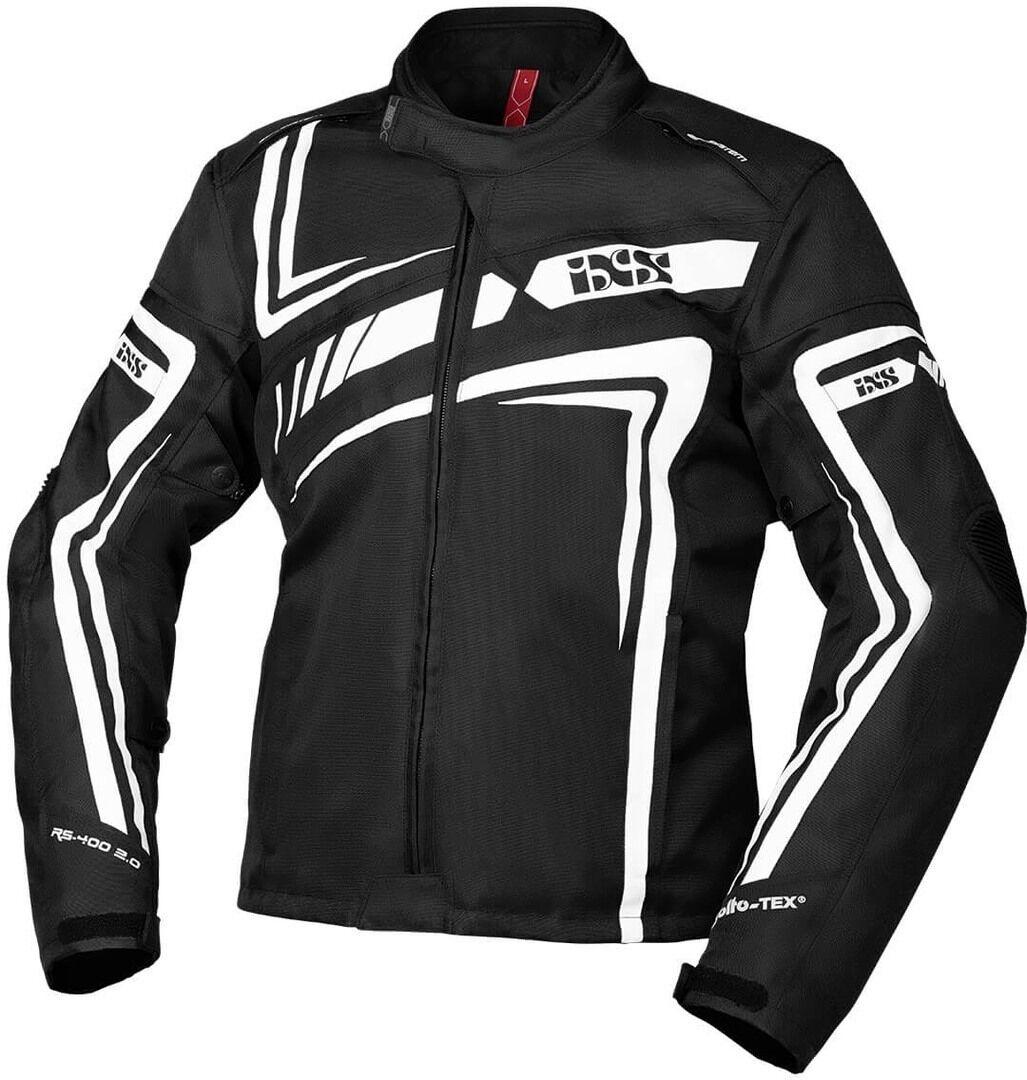IXS Sport RS-400-ST 2.0 Veste textile de moto Noir Blanc taille : 3XL