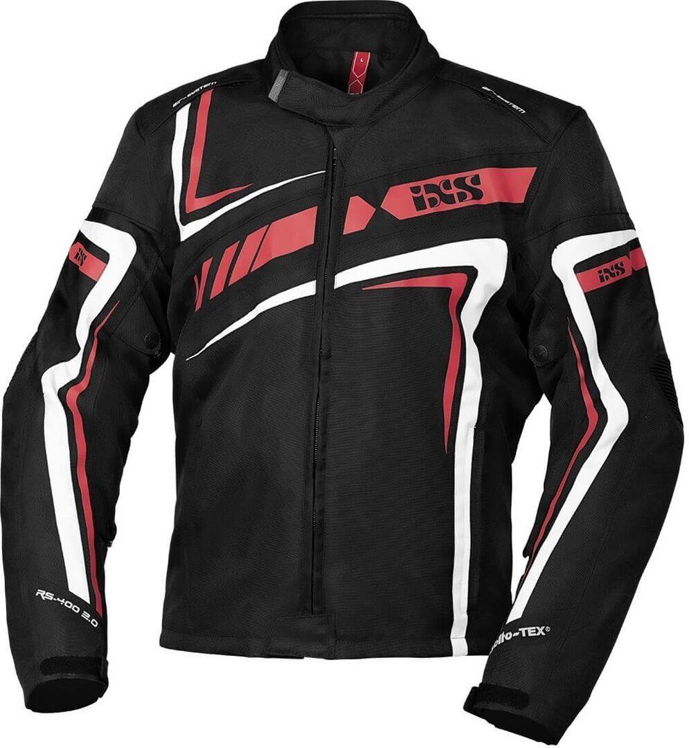 IXS Sport RS-400-ST 2.0 Veste textile de moto Noir Blanc Rouge taille : 2XL