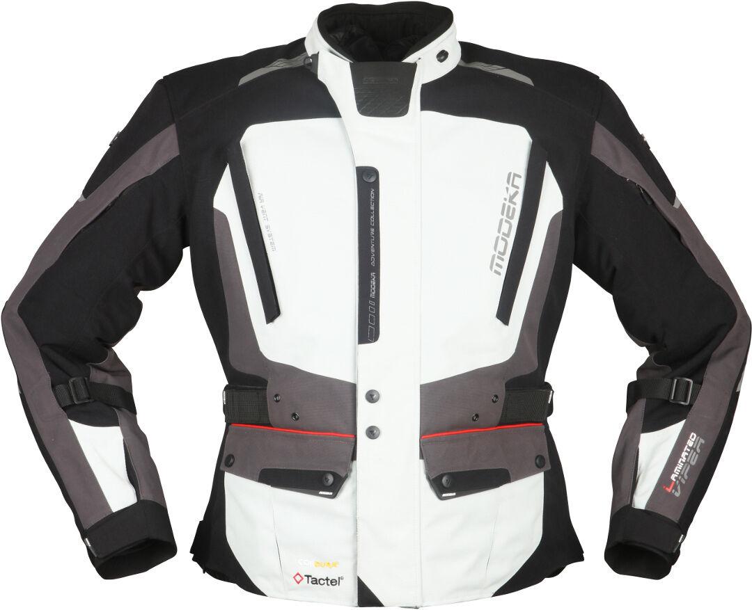 Modeka Viper LT Veste textile de moto Noir Gris taille : XL