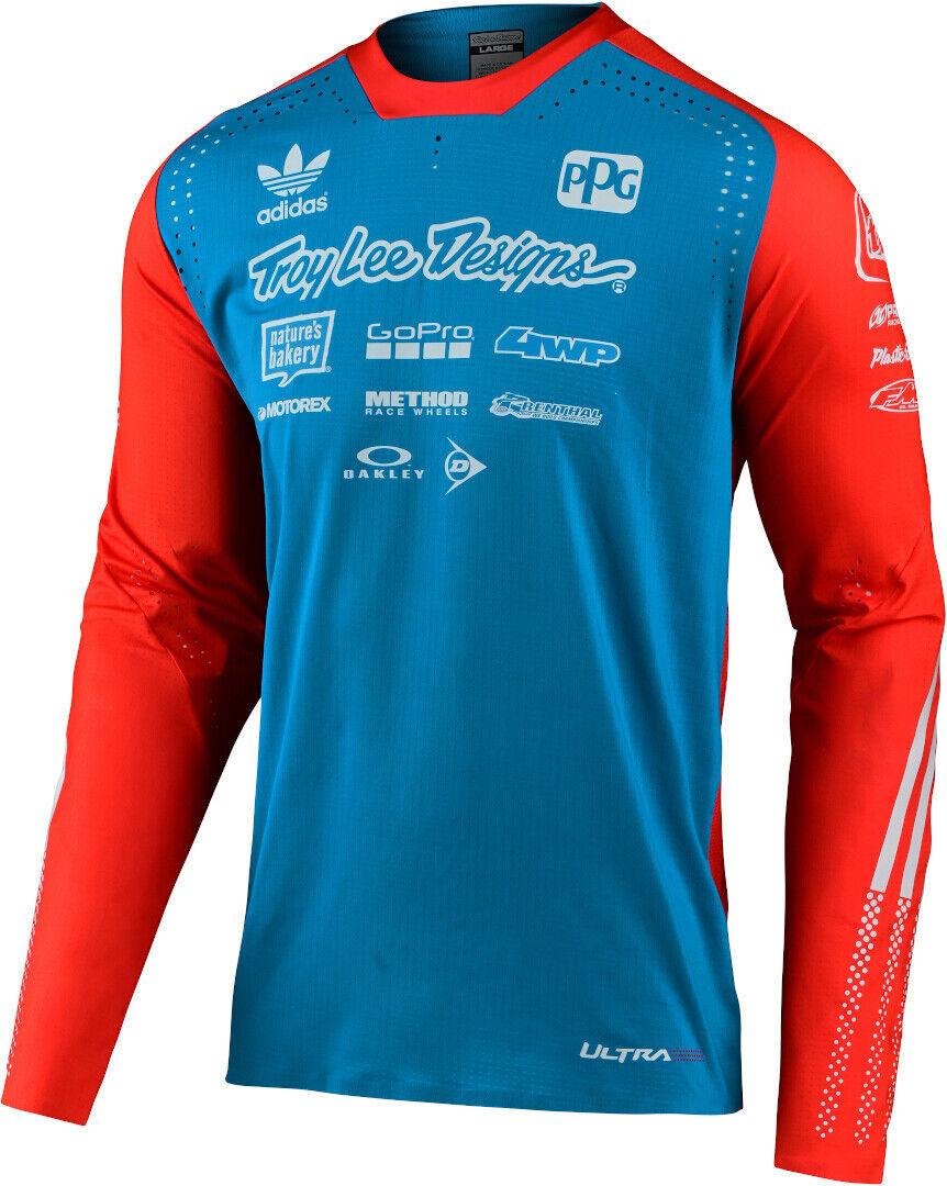 Troy Lee Designs SE Ultra Ltd Adidas Team Maillot Motocross Rouge Bleu taille : S