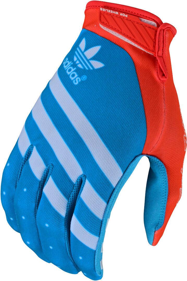 Troy Lee Designs Air Ltd Adidas Team Gants Motocross Blanc Rouge Bleu taille : S