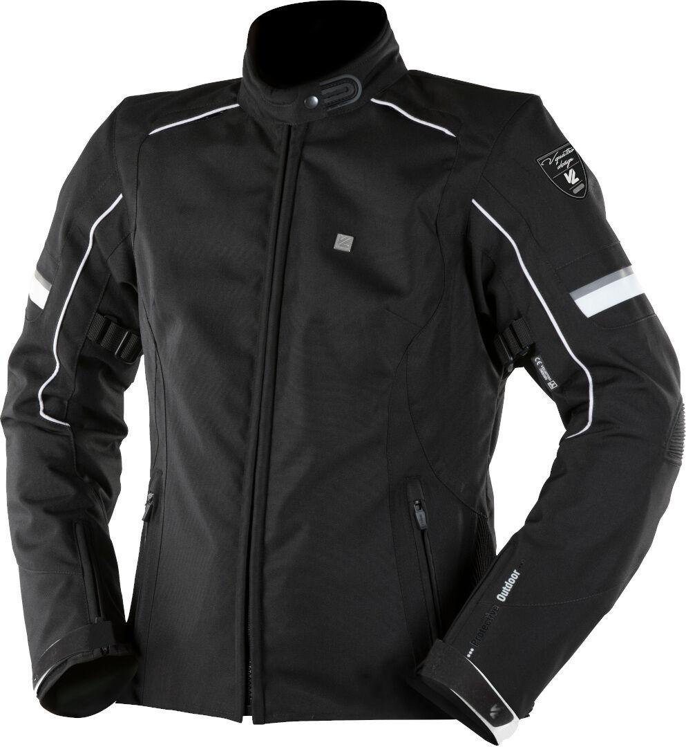 VQuattro Livya Veste textile de moto de dames Noir Blanc taille : L
