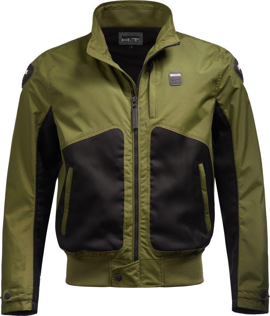 Blauer Thor Air veste textile de moto perforée Noir Vert taille : M